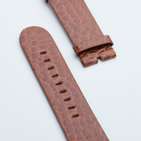 Genuine Alligator Fits Apple Watchstrap // Caramel Shiny