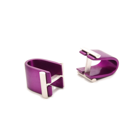 Affinor Cufflinks // Purple