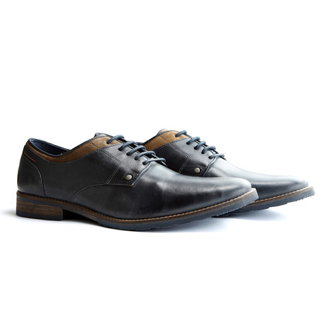 New Castle Leather Oxford // Blue