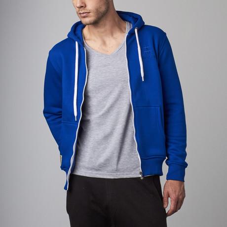 Zip Hoodie // Blue
