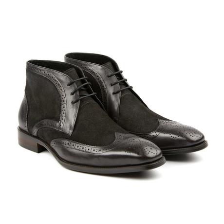 Lace Up Wingtip Shoe // Gunmetal