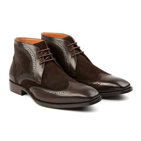 Lace-Up Wingtip Shoe // Brown
