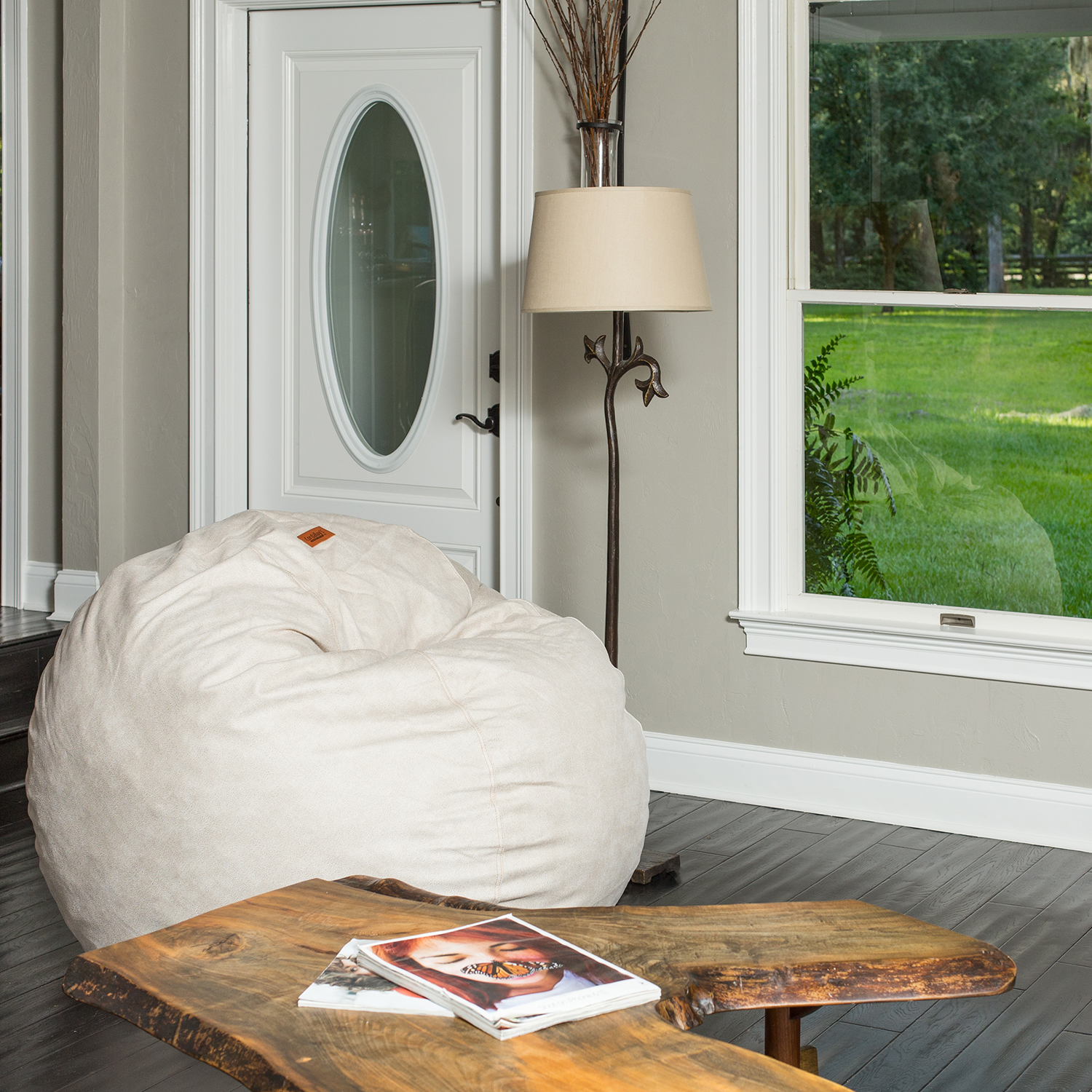 Marvelous Cowhide Bean Bag Chair All About Cow Photos Ibusinesslaw Wood Chair Design Ideas Ibusinesslaworg