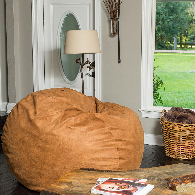 Astounding Convertible Bean Bag Chair Cowhide Cognac Full Ibusinesslaw Wood Chair Design Ideas Ibusinesslaworg