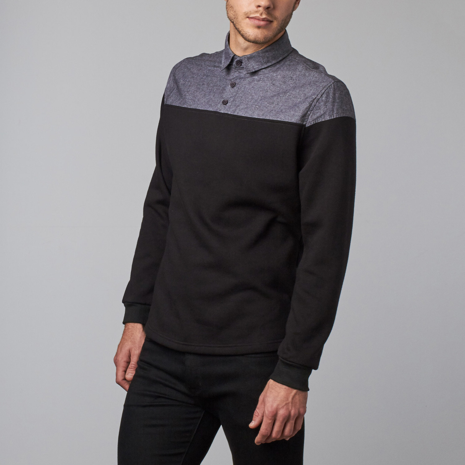 Sever sweater black chambray s cohesive co for Chambray 7 s