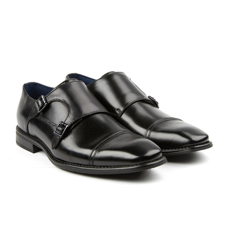 Woodmere II Double Monkstrap // Black (US: 8)