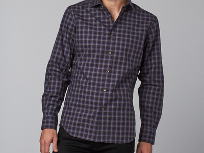 Photo of James Tattersall European Shirting Hillman Button-Up // Blue (M) by Touch Of Modern
