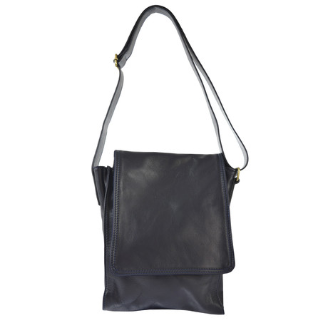 Flap Over Messenger Bag (Black)