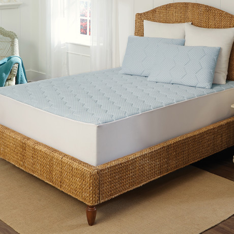 Arctic Sleep™ Memory Foam Mattress Pad + Pillow Set