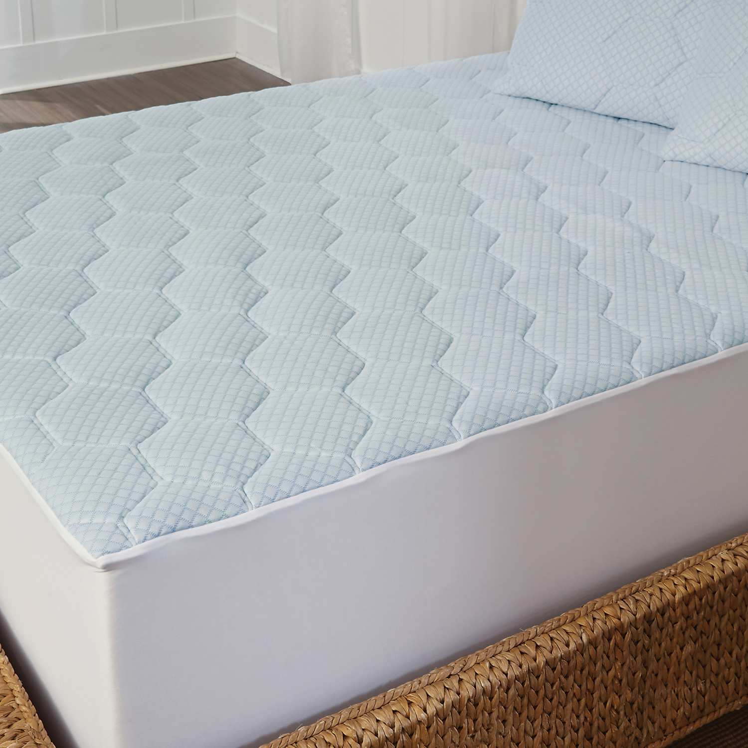 Arctic Sleep Memory Foam Mattress Pad Pillow Set Twin