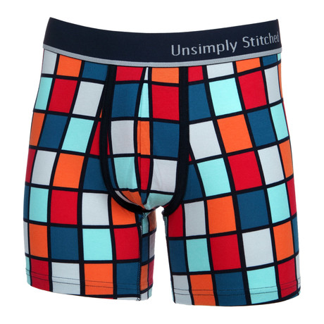 Squares Boxer Brief // Bright