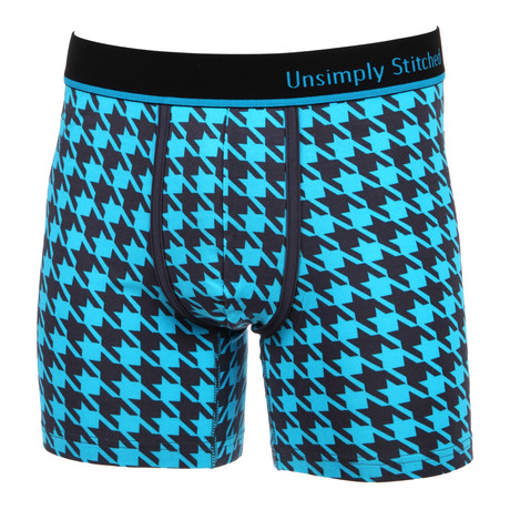 Houndstooth Boxer Brief // Teal
