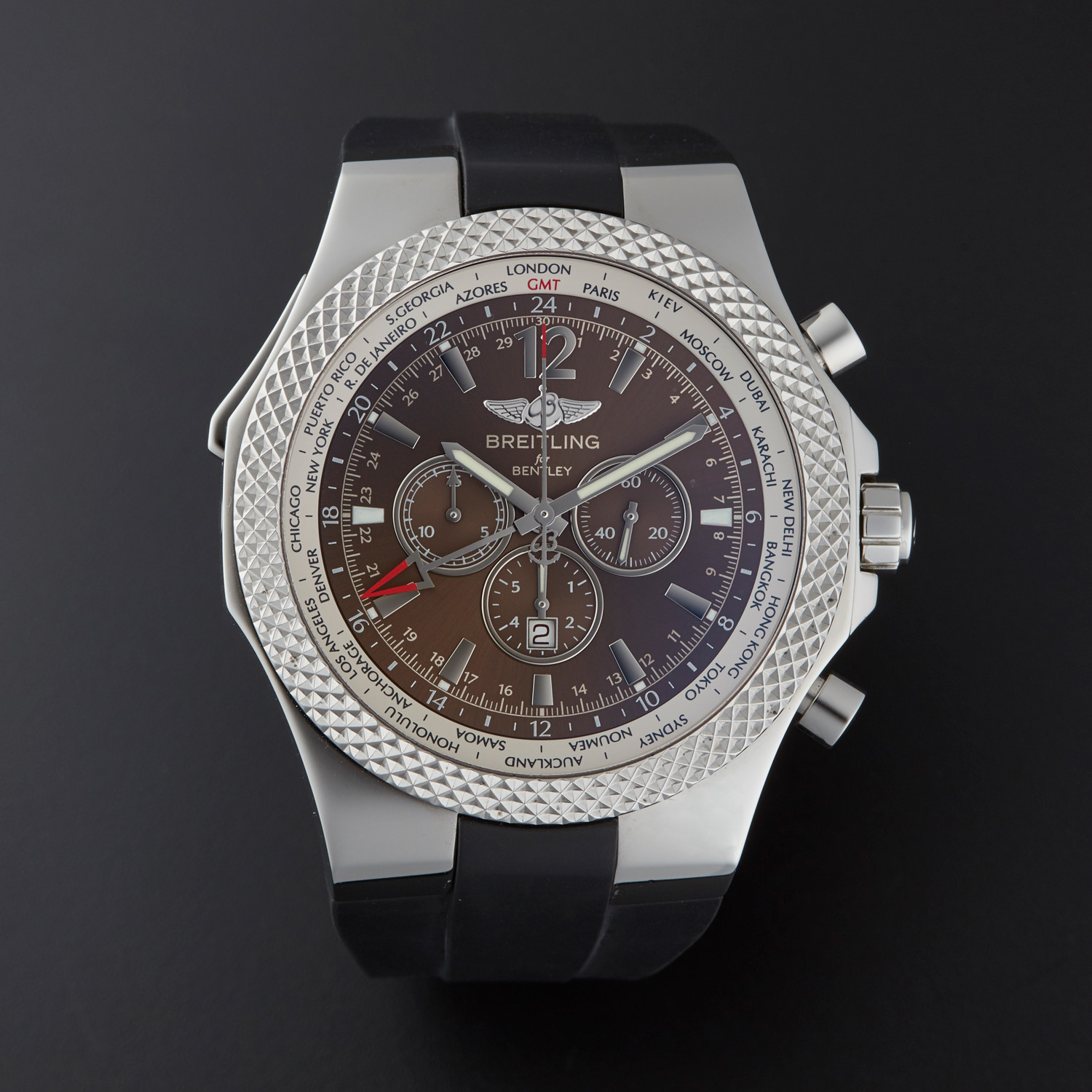 Breitling Bentley GMT Automatic // A47362 // Pre-Owned