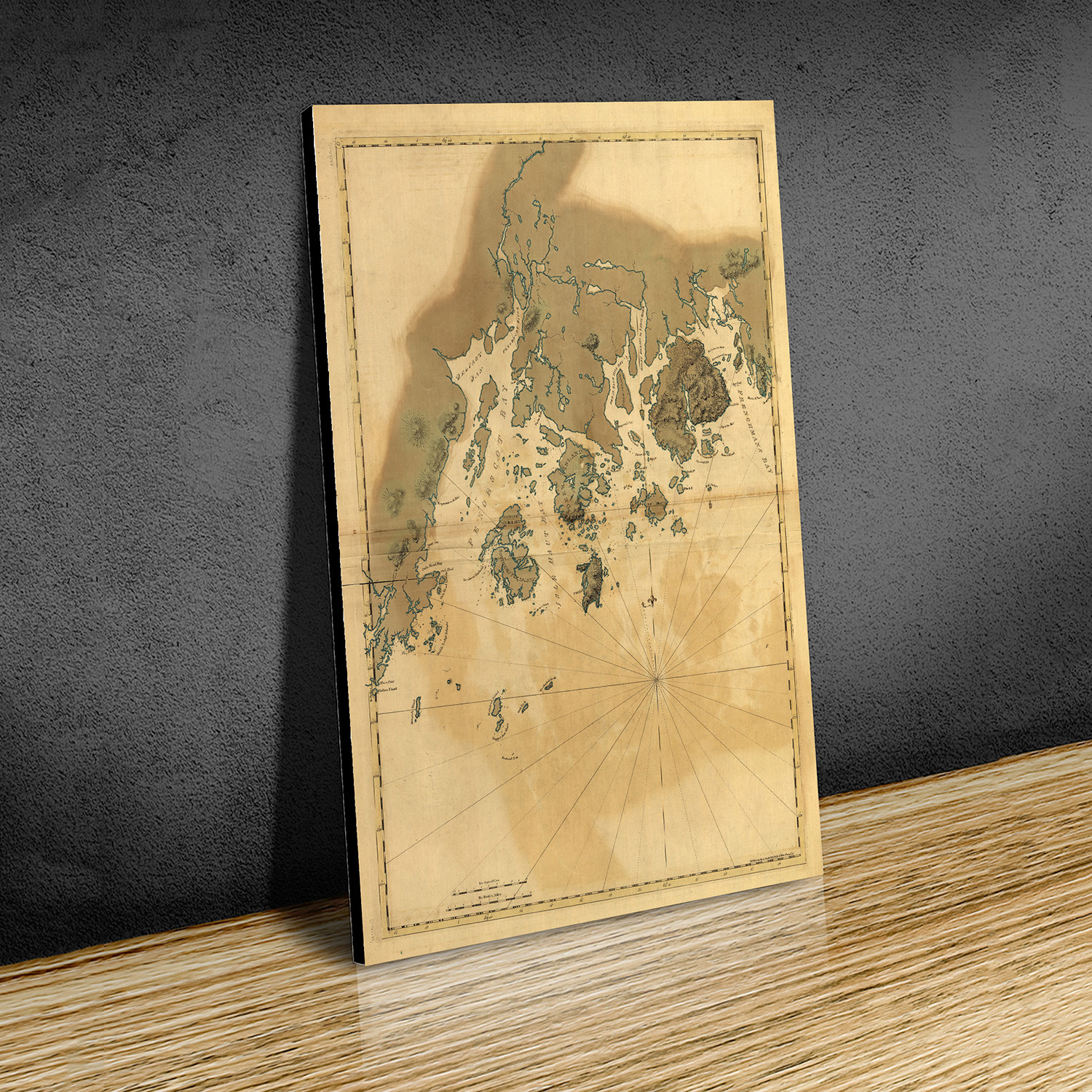 Maine Coast W X H Paper Antique Maps Touch Of Modern - Antique map of maine