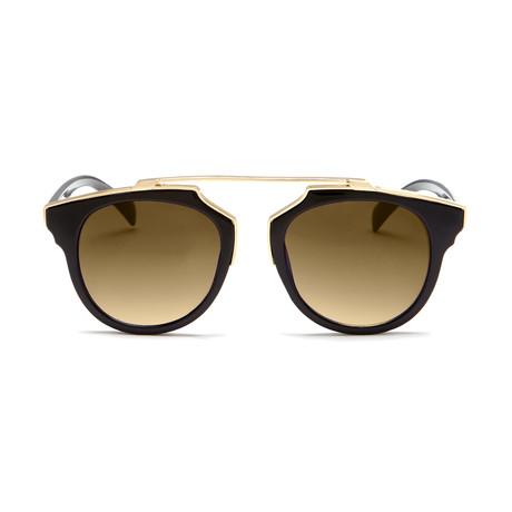 Unisex Bacara Sunglasses // Matte Black + Gold