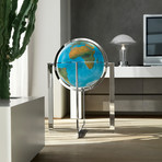 Large Globe + Steel Stand