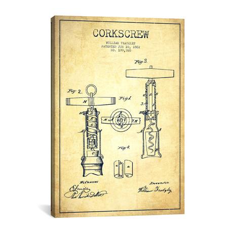 Corkscrew Patent Blueprint // Vintage