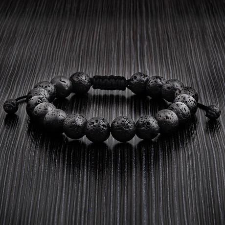 Beaded Bracelet // Lava