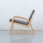 Isao Chair (Walnut + Light Grey Felt)
