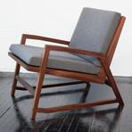 Isao Chair (Walnut + Light Grey Felt)