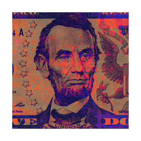 "Hello Lincoln (12""W x 12""H x 1.5""D)"
