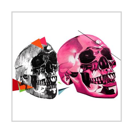 "Porcelain Skulls (24""W x 16""H x 1.5""D)"