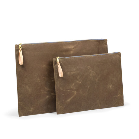Zip Folio // Field Tan