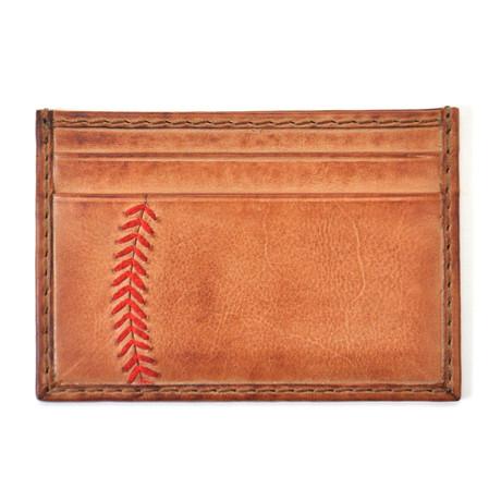 Baseball Stitch Card Case // Tan