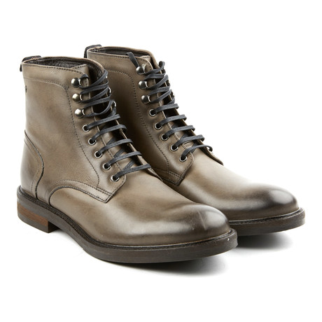 Track Lace-Up Boot // Grey