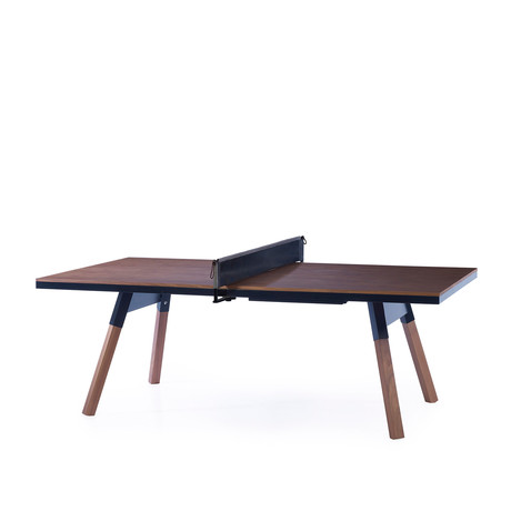 You and Me Indoor Ping-Pong Table // Medium // Walnut (Black)