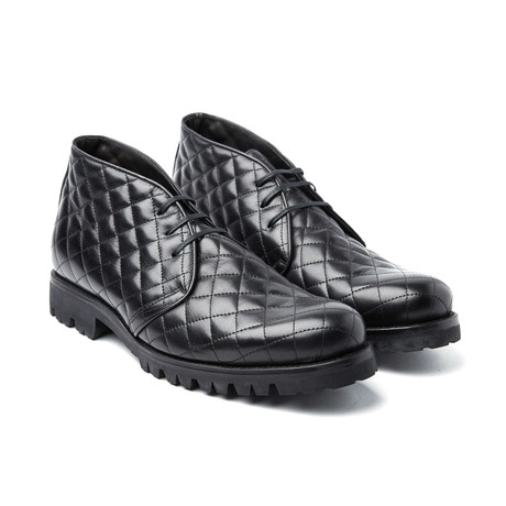 Noah Quilted Chukka Boot // Black
