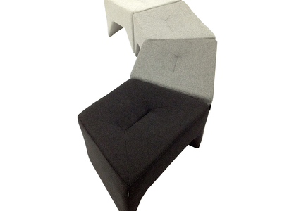 Photo of Nolen Niu Distinctive Minimalist Furniture  Small Boom Pouf (Standard Fabric // Pewter) by Touch Of Modern