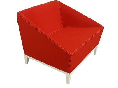 Photo of Nolen Niu Distinctive Minimalist Furniture  Poly Armchair (Maharam Divina Wool // Red) by Touch Of Modern