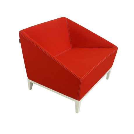 Poly Armchair (Maharam Divina Wool // Red)