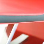 Zero Chaise Lounge // Polished Stainless Steel Base (ELMOsoft // Black)