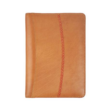 Baseball Stitch Mini Pad Folio + Tablet Case // Tan