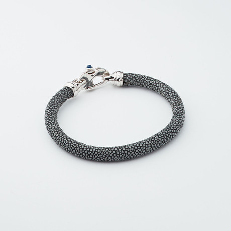 Stingray Bracelet // Grey + Silver