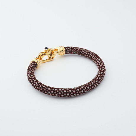 Stingray Bracelet // Chocolate + Gold