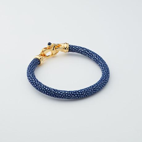 Stingray Bracelet // Royal Blue + Gold
