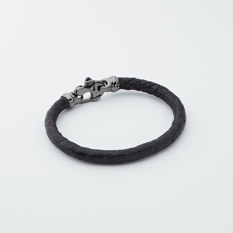 Edgewater Jewelry Group // Alligator Bracelet // Black