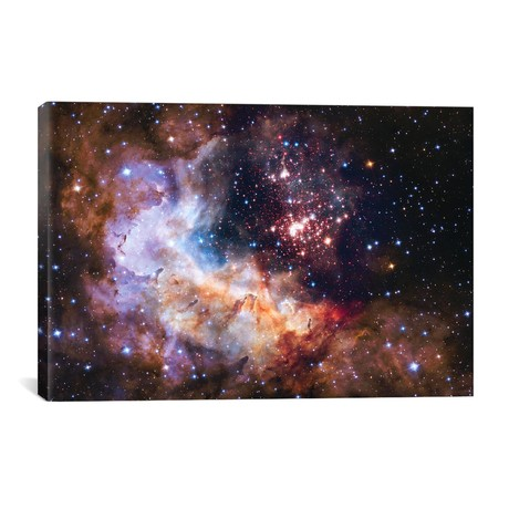 "WR 20a And Surrounding Stars, Westerlund 2 // NASA (40""W x 26""H x 1.5""D)"