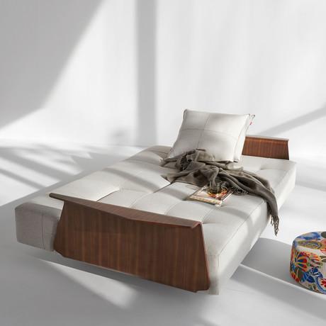 Long Horn D.E. Sofa + Wood Arms