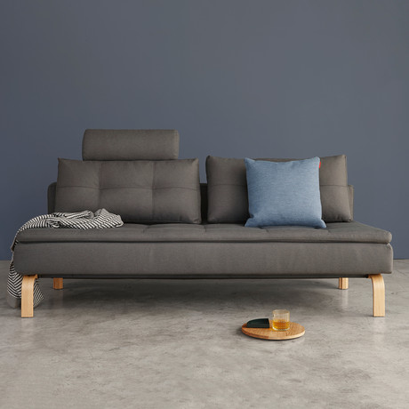 Dual Sofa // Oak Legs             (Soft Grey)