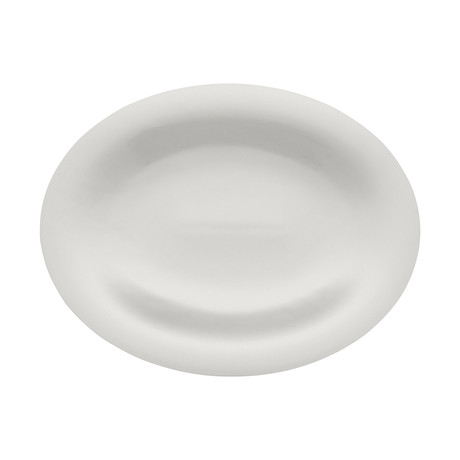 Ku Oval Serving Plate (White)