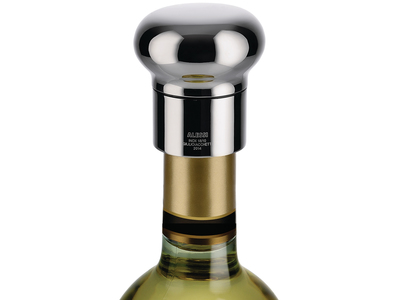 Photo of Alessi Italian Kitchen Design Noè Wine Bottle Stopper by Touch Of Modern