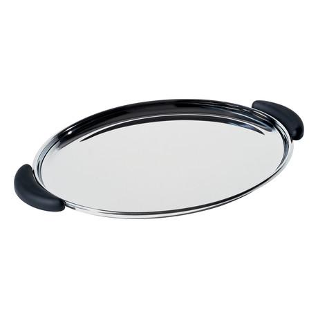 Bombé Oval Tray + Handles