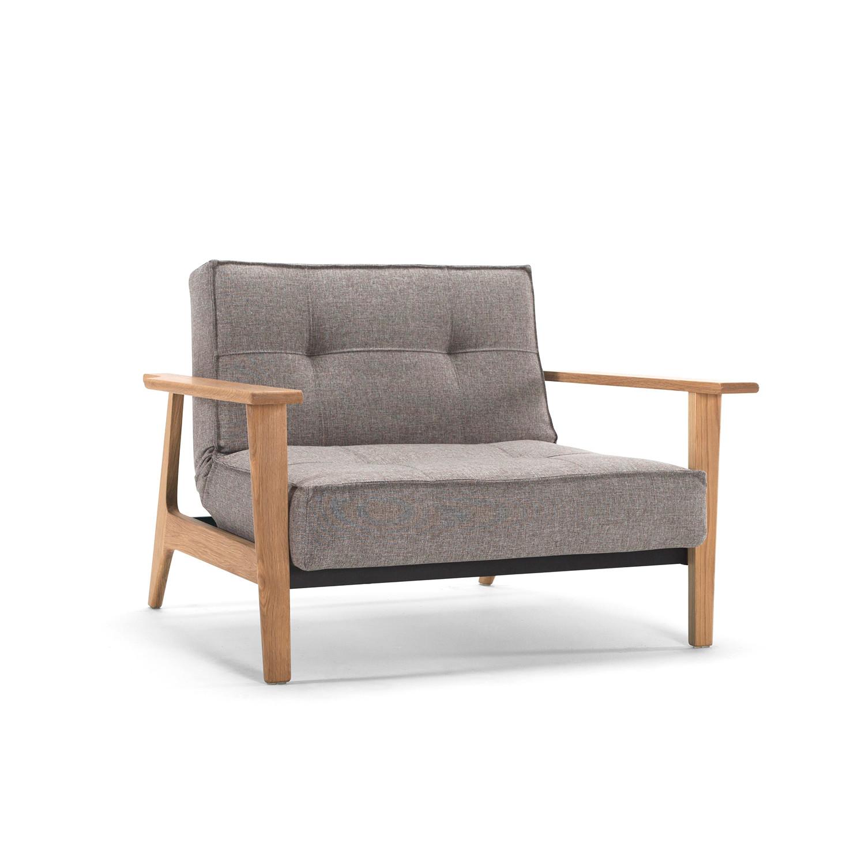 Splitback Chair Frej Arms Begum Dark Brown