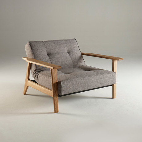 Splitback Chair + Frej Arms (Begum Dark Brown)