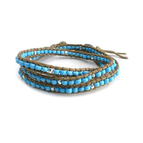 Multi-Wrap Seed Bead Bracelet (Turquoise)
