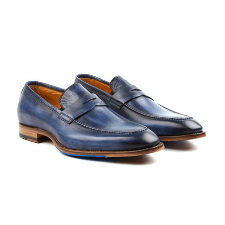 Amberes Penny Loafer // Deep Blue